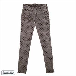 Levi's 535 Women's Gray Geometric Jeans